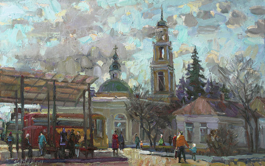 Temple Of Russia Painting - Spring City by Juliya Zhukova