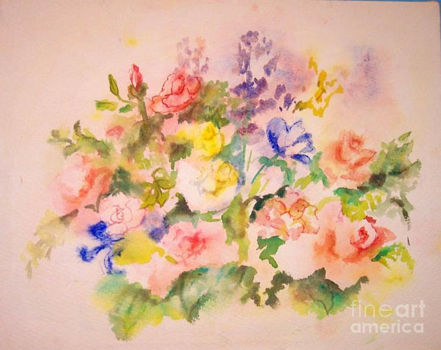 spring flowers painting by jan statman