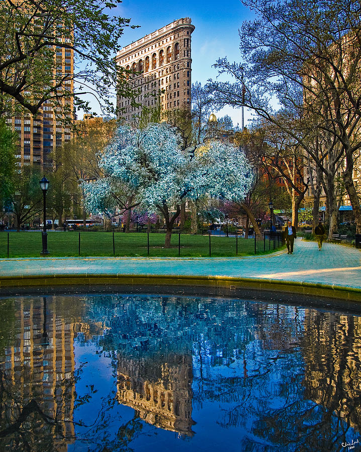 Flatiron Photograph - Spring In Madison Square Park by Chris Lord