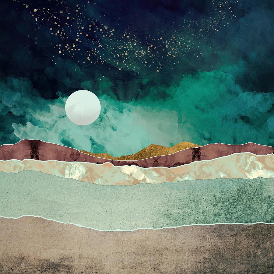Spring Night Digital Art