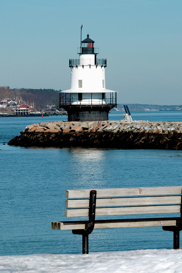 Coast Photograph - Spring Point Ledge Lighthouse by Greg Fortier