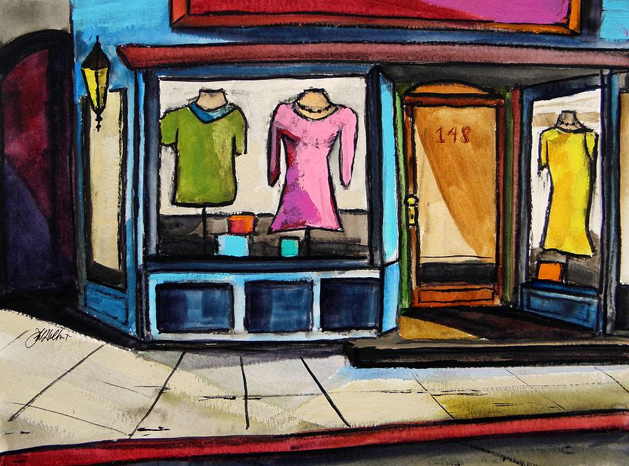 Store Painting - Spring Windows by John  Williams