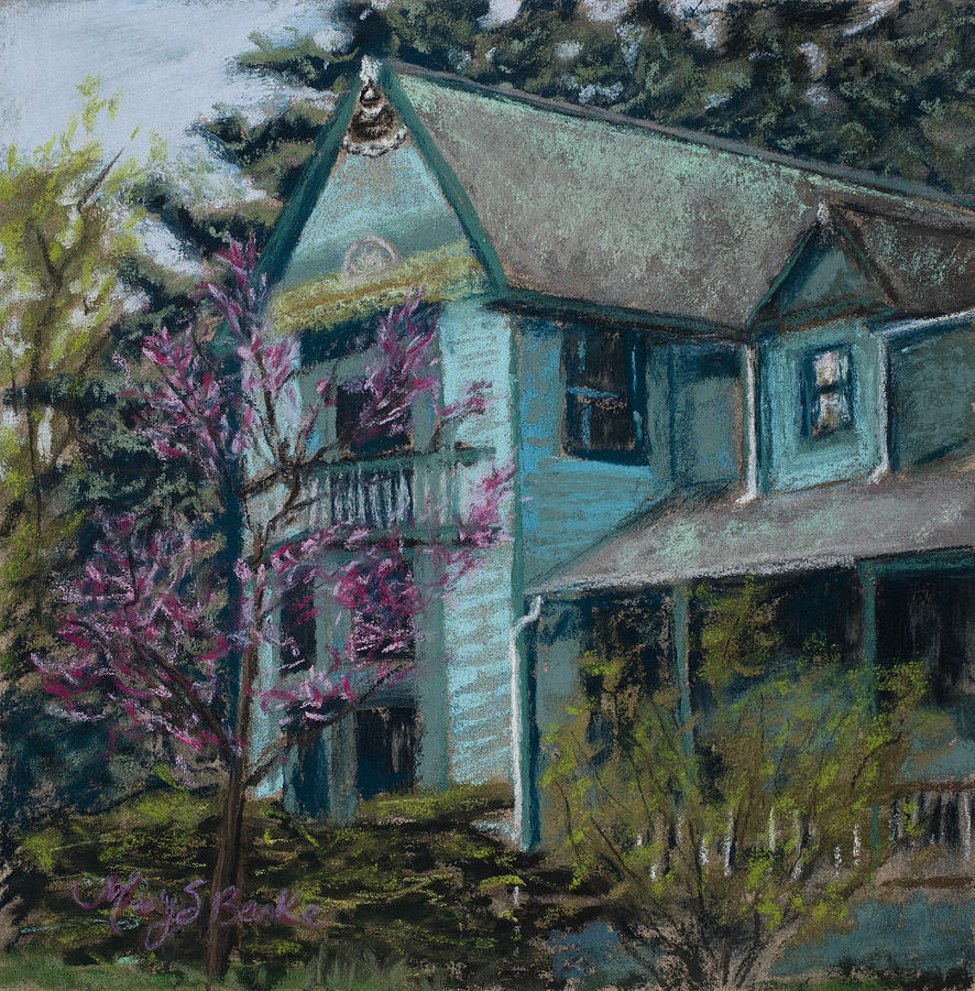 America Painting - Springtime In Old Town by Mary Benke