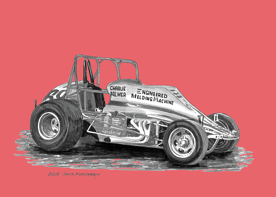 Sprint Car Jack : Sprint car dirt track racer painting by jack pumphrey