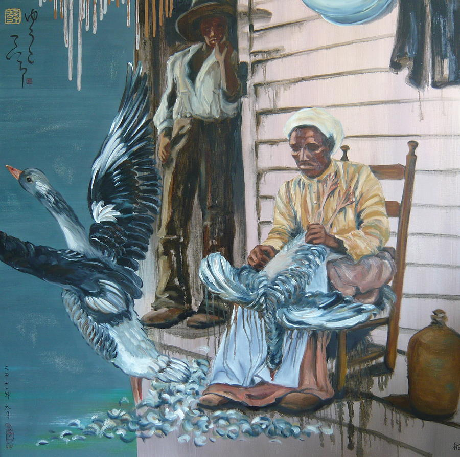 African American Painting - Spritted Away by Yuko Nogami Taylor