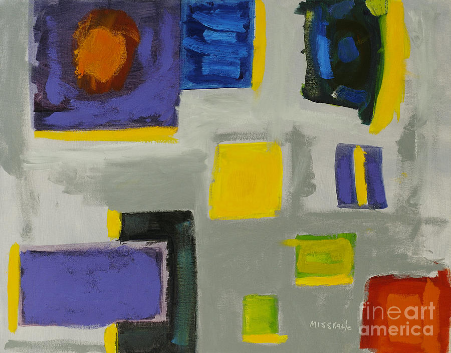 Abstract Painting - Squares by Katie OBrien - Printscapes