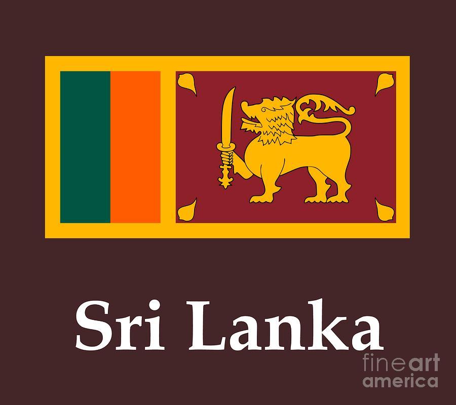 Sri Lanka Flag And Name Digital Art By Frederick Holiday