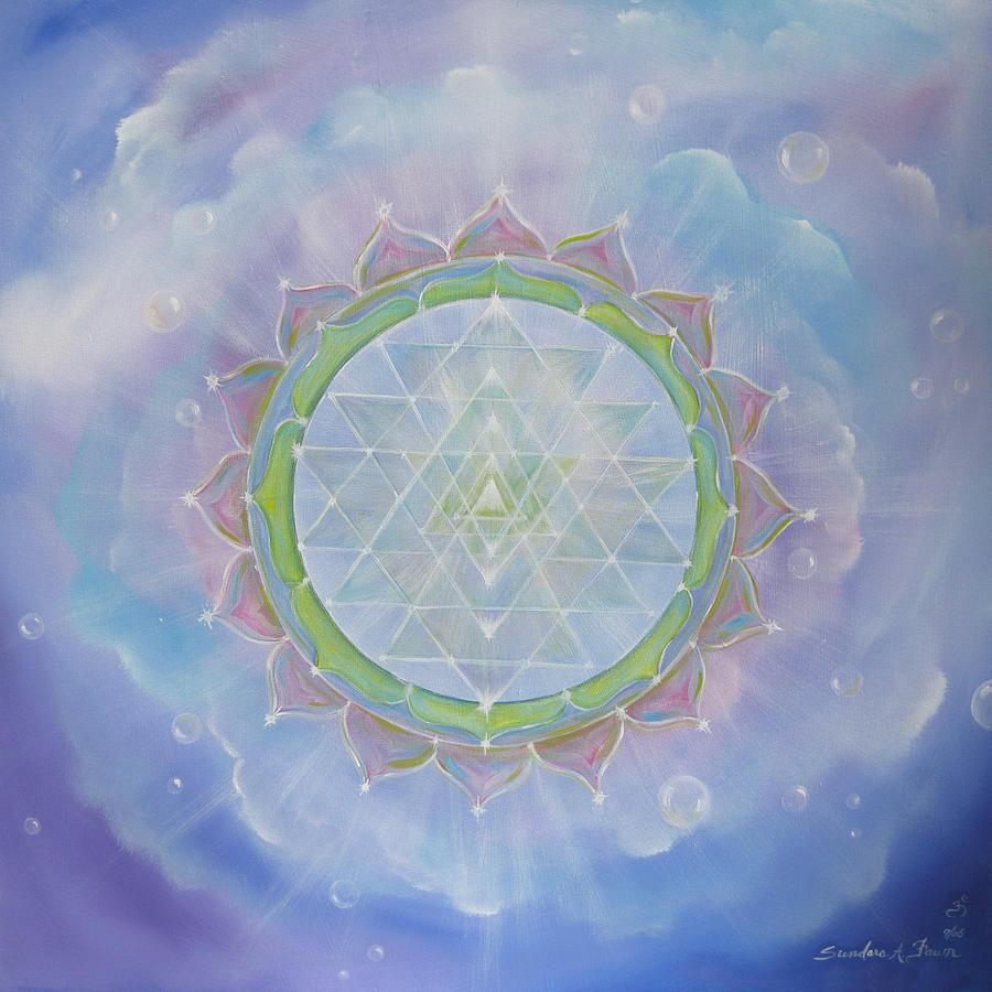 Sri Yantra Painting - Sri Yantra by Sundara Fawn