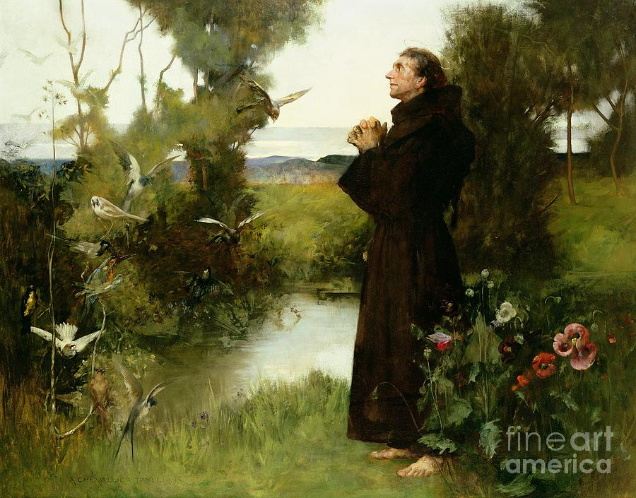St. Francis Painting - St. Francis by Albert Chevallier Tayler
