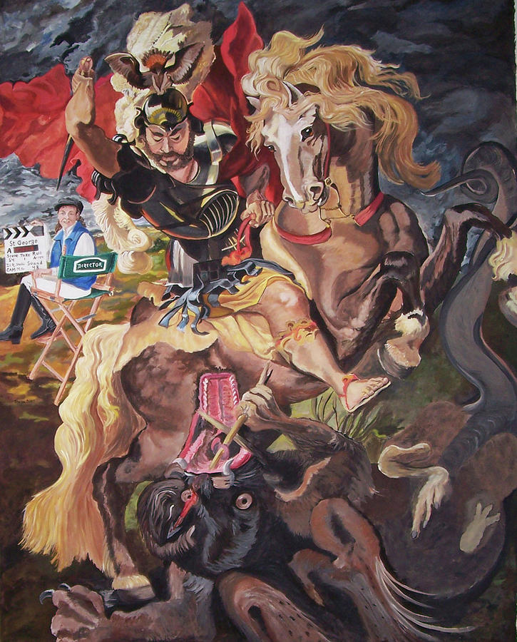 St George And The Dragon Painting - St George And The Dragon by Stella Sherman