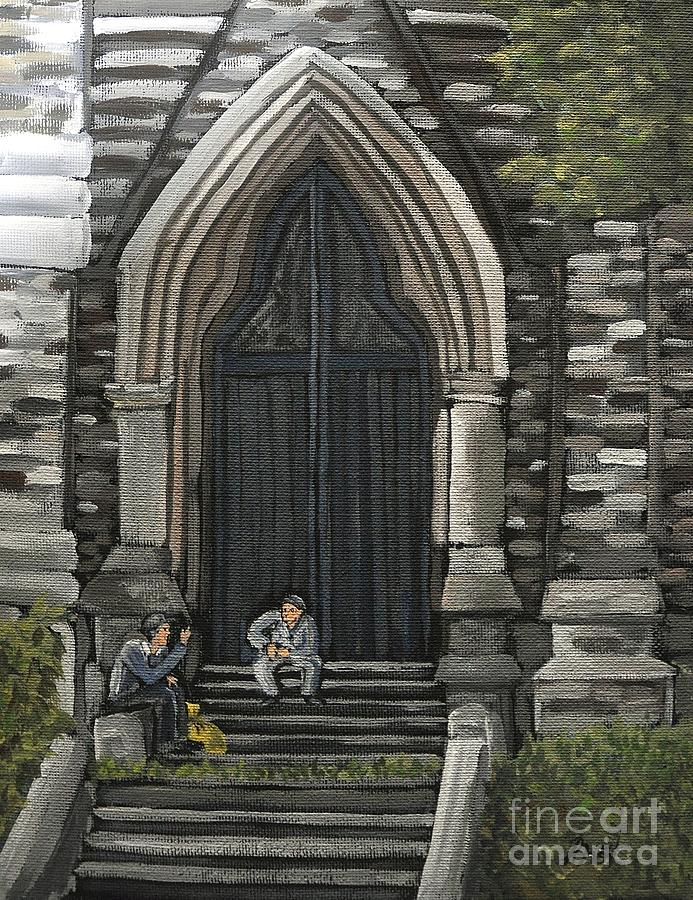 St. George's Church Painting - St Georges Parishioners by Reb Frost