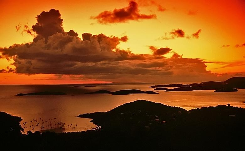 Sunset Photograph - St. John Sunset by Bill Jonscher