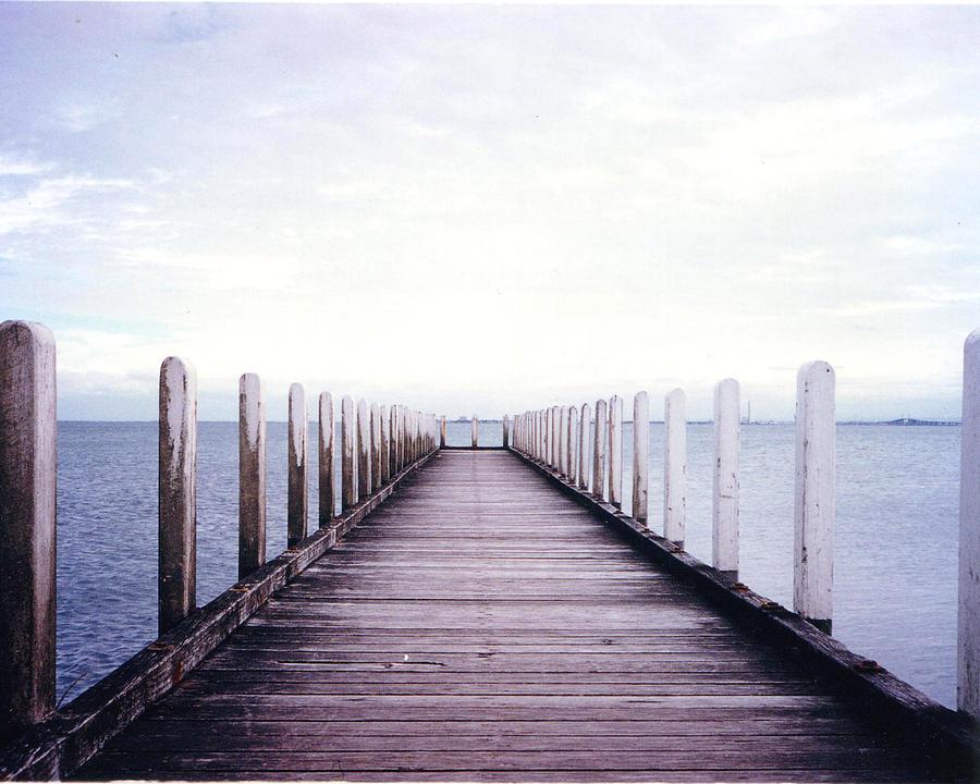 St.kilda Photograph - St Kilda Jetty by Darren Stein
