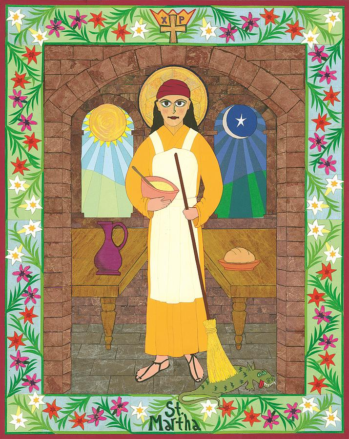 Religious Art Painting - St. Martha Icon by David Raber