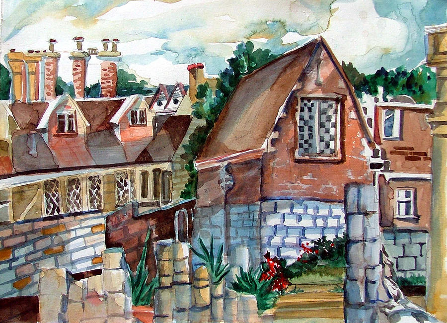 Watercolor Painting - St Marys Of York England by Mindy Newman