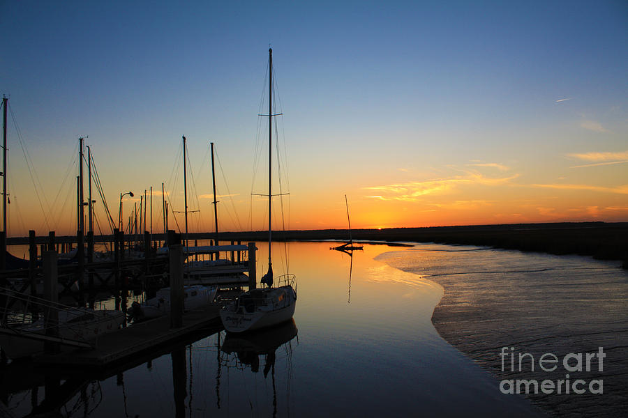 Sunset Photograph - St. Marys Sunset by M Glisson