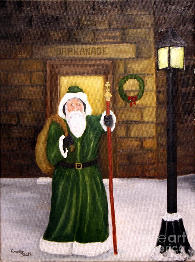 St. Nick Painting - St. Nicholas by Timothy Smith