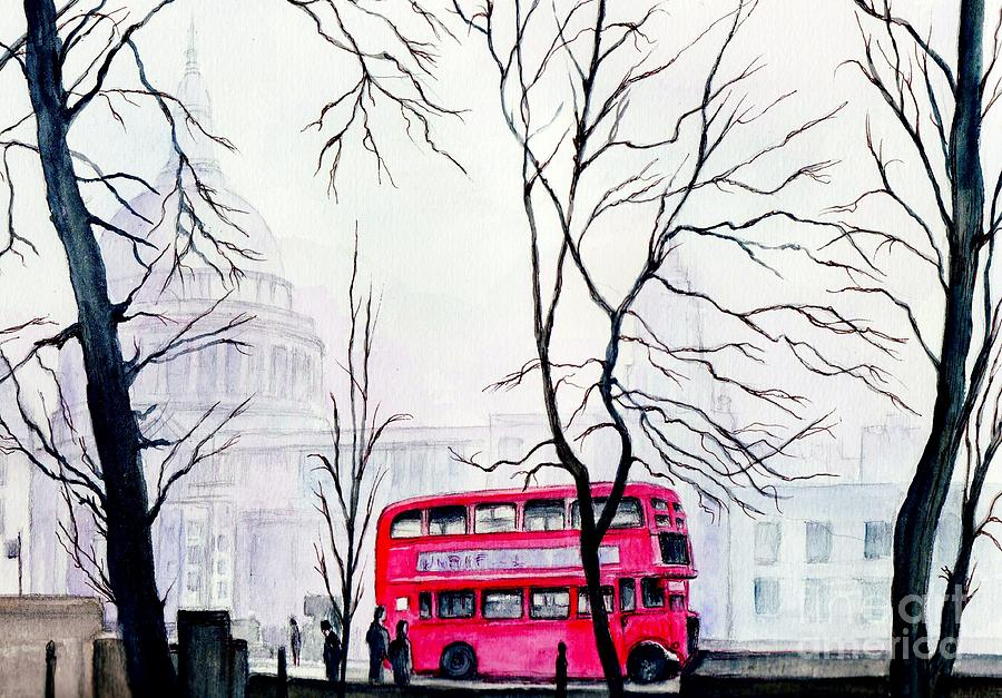 St Pauls Painting - St Pauls Cathedral In The Mist  by Morgan Fitzsimons
