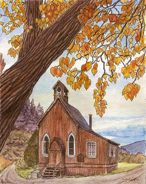Church Painting - St. Saviours In Autumn by Tahirih Goffic