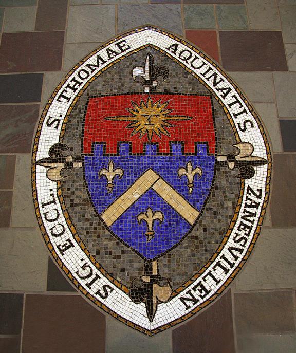Mosaic Glass Art - St Thomas by Laura K Aiken