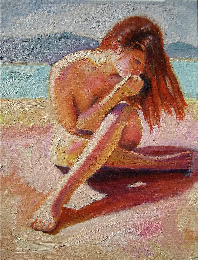 Nude Painting - St. Tropez Beauty by Pixie Glore