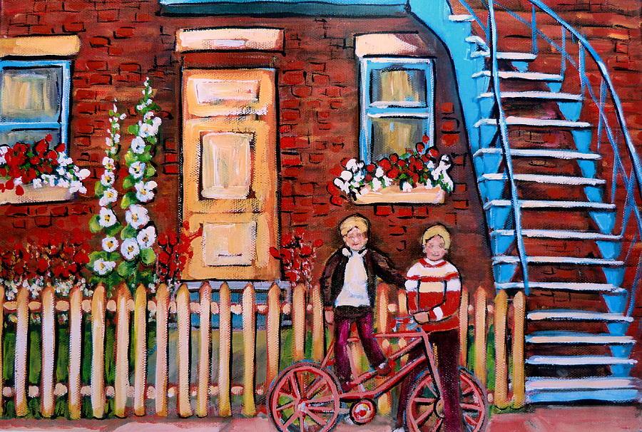 St. Urbain Street Boys Painting