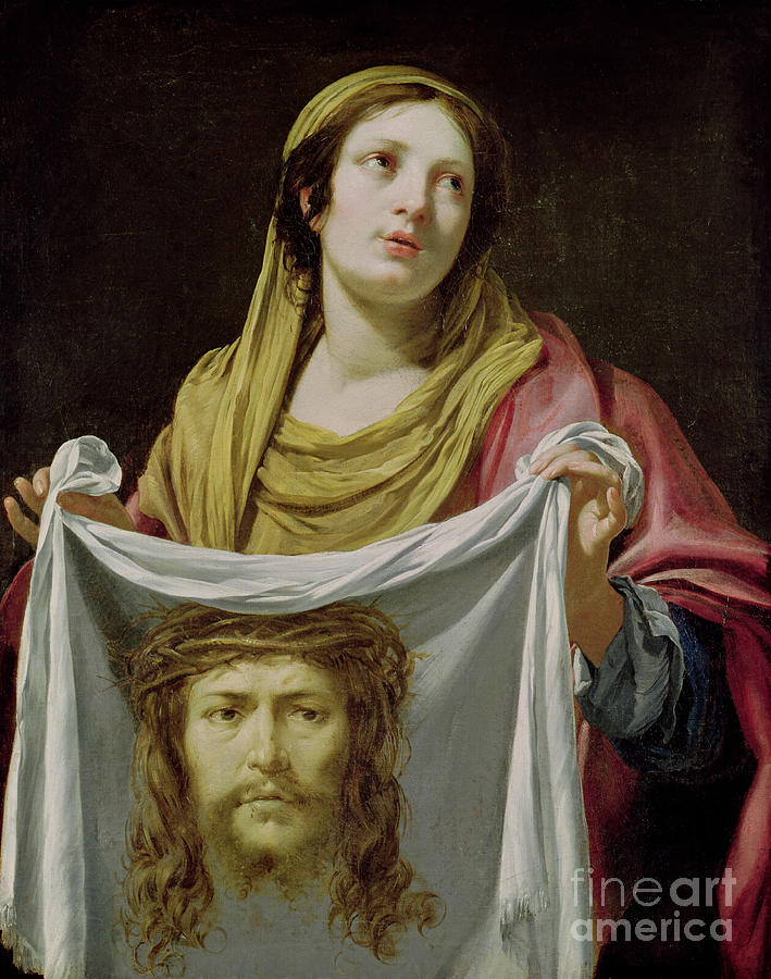 Veronica Painting - St. Veronica Holding The Holy Shroud by Simon Vouet