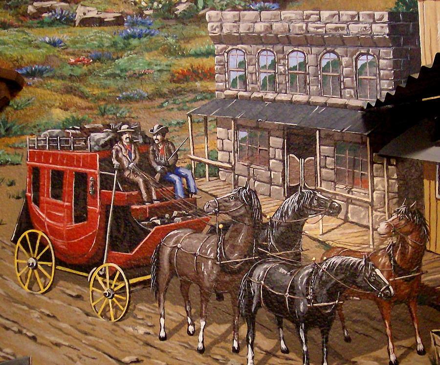 Western Decor Western Stagecoach Old West Giclee'  |Large Western Stagecoach Art
