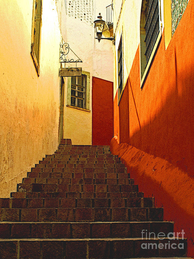 Darian Day Photograph - Stairway Guanajuato by Mexicolors Art Photography