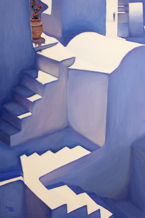 Travel Painting - Stairways by Patrick Parker