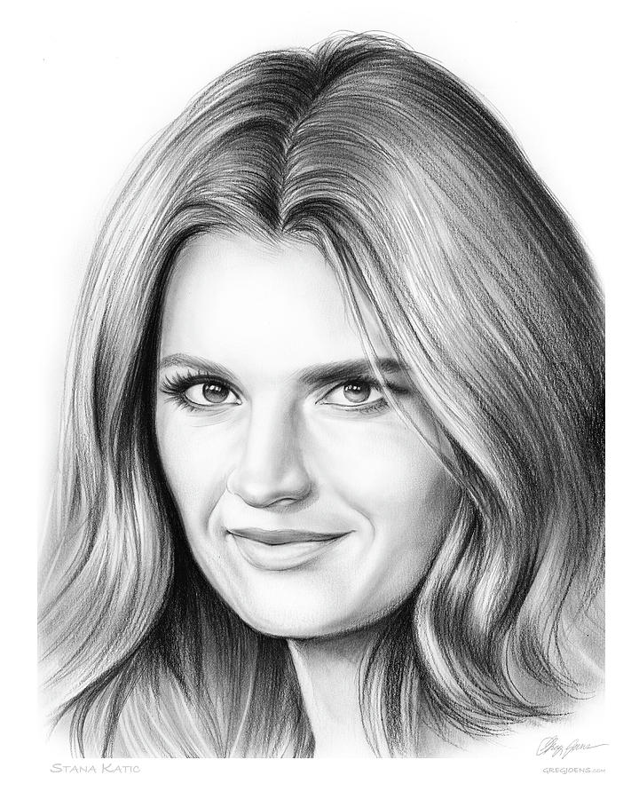Stana Katic Drawing
