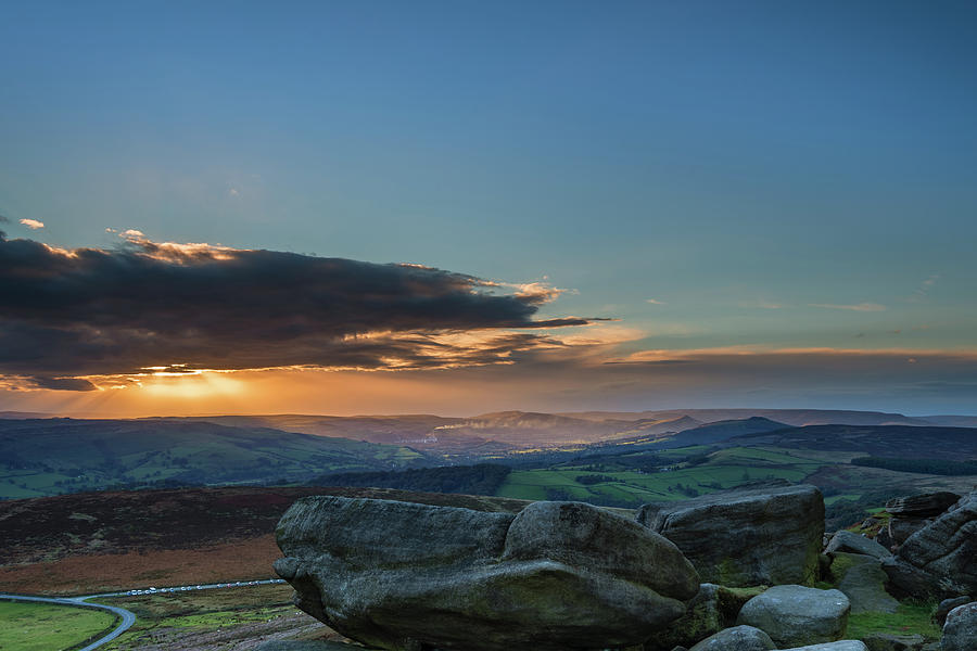 Stanage Edge Sunset is a photograph by David Head which was uploaded ...