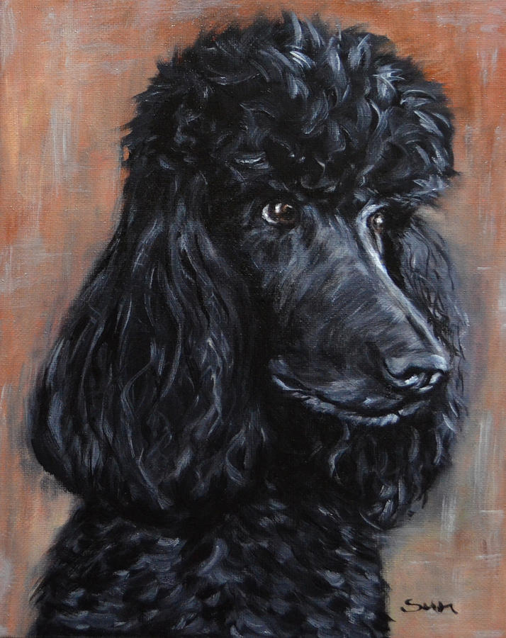 Standard Poodle Dog Painting Painting By Sun Sohovich