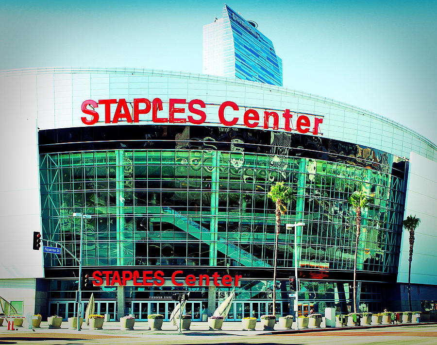 Downtown Los Angeles Photograph - Staples Center Color by Ariane Moshayedi