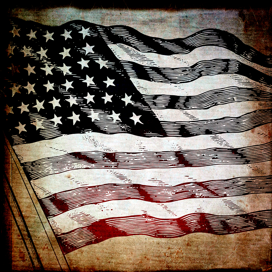United Mixed Media - Star Spangled Banner by Angelina Vick