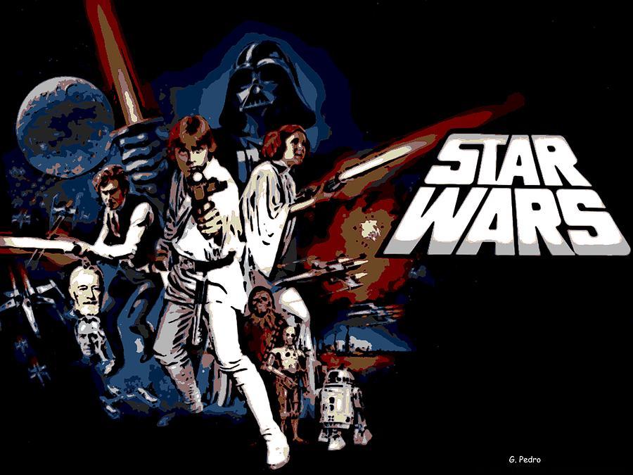 Star Wars Movie Poster By George Pedro