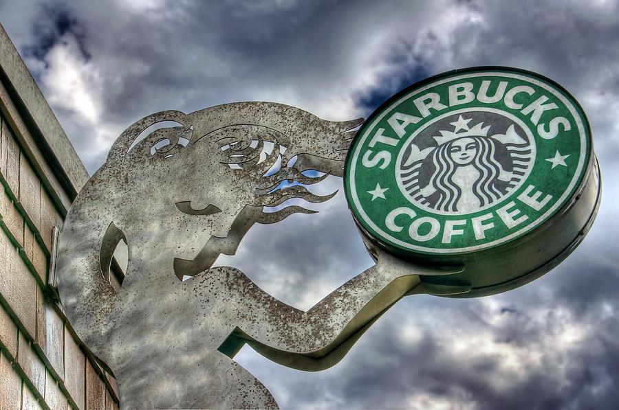 Seattle Photograph - Starbucks Coffee by Spencer McDonald