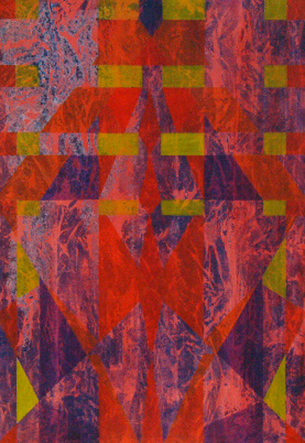 Painting.abstract Painting - Starman by Shahid Muqaddim