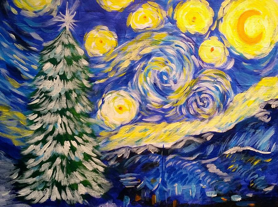 Starry Winter Night by Paula Deutz