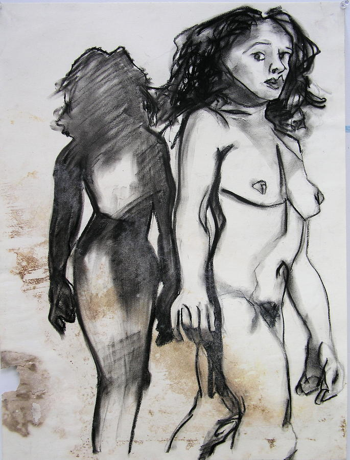 Charcoal Drawing - Startled by Brad Wilson