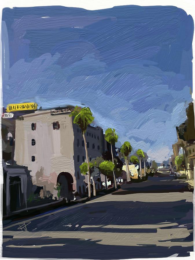 Santa Barbara Digital Art - State Street by Russell Pierce