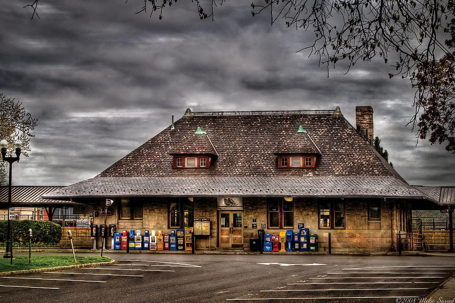 Savad Photograph - Station - Westfield Nj - The Train Station by Mike Savad