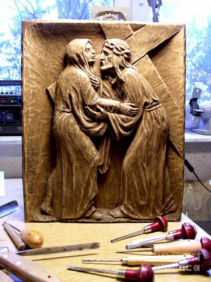 Station Of The Cross Iv Painting