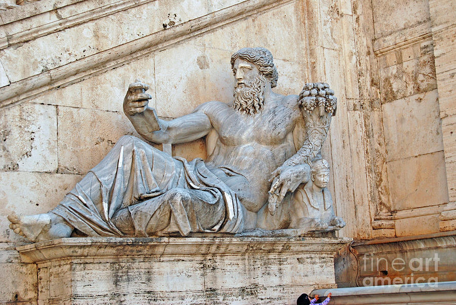 Statue Capitoline Hill Of Rome Italy Sculpture