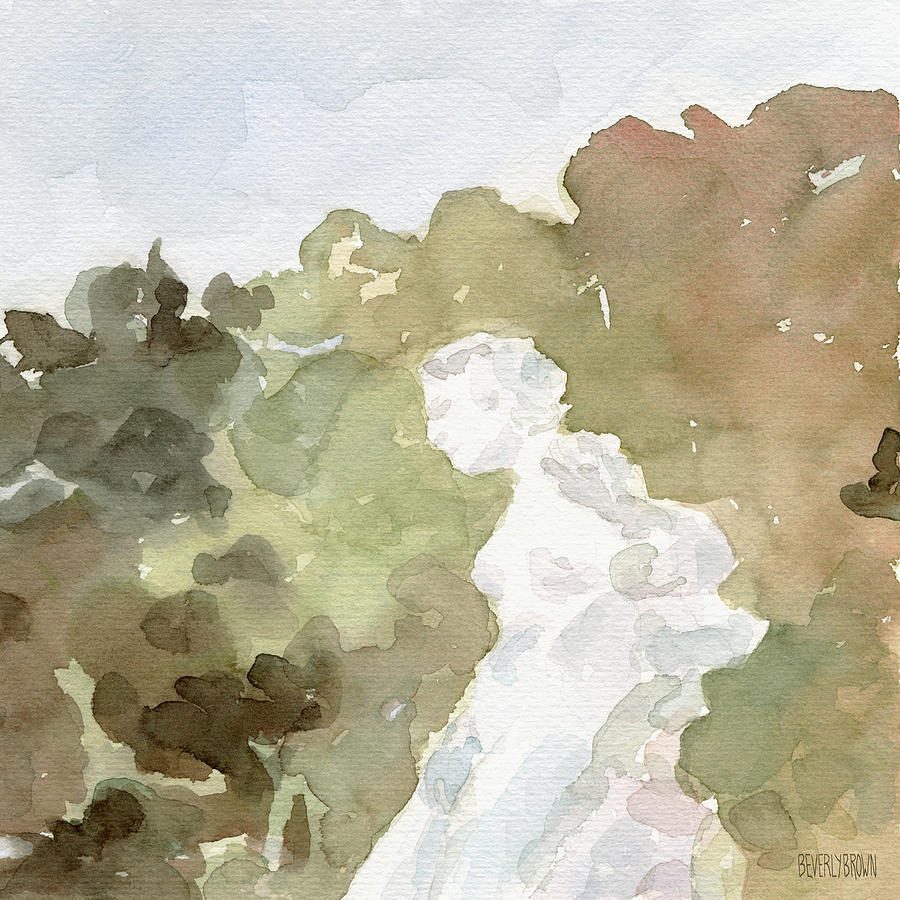 Statue Of A Woman Watercolor Paintings Of France Painting