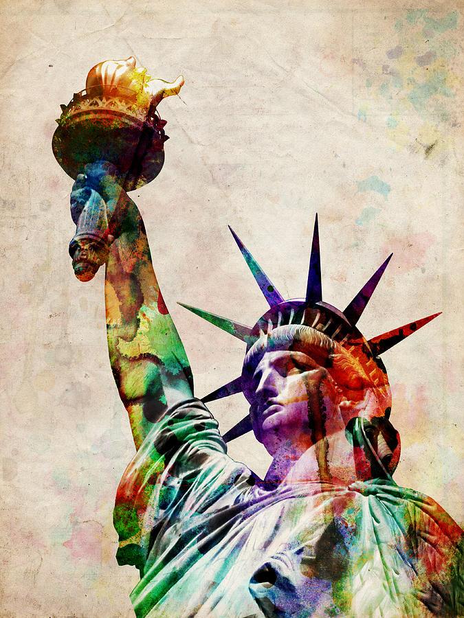 Statue Of Liberty Digital Art - Statue Of Liberty by Michael Tompsett