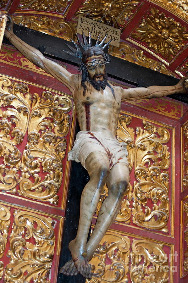 Andalusia Photograph - Statue Of The Crucifixion Inside The Catedral De Cordoba by Sami Sarkis