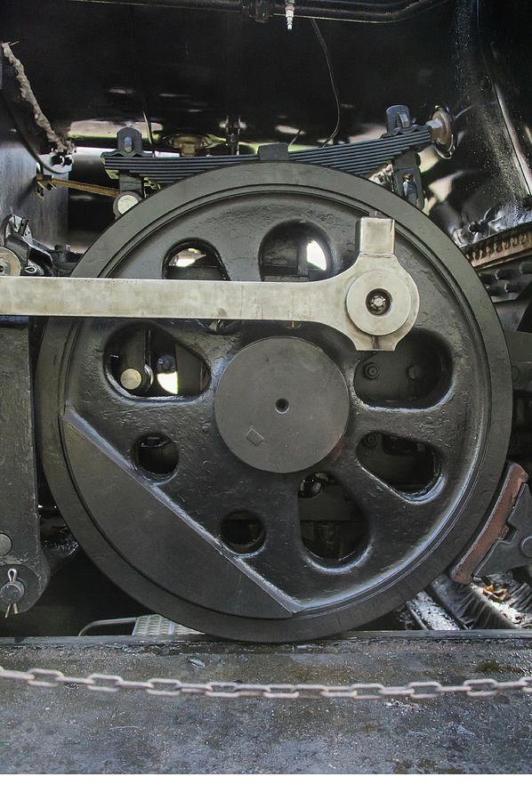 Steam Engine Wheel Driving : Steam locomotive drive wheel photograph by mark roger bailey