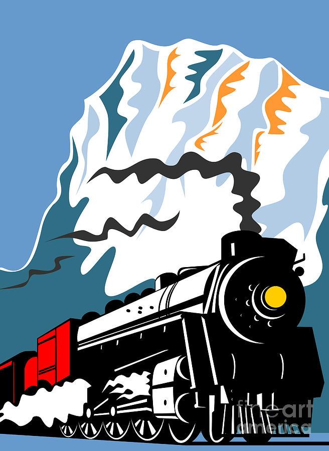 Steam Train Digital Art - Steam Train by Aloysius Patrimonio