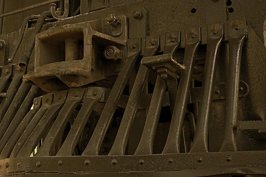 Steam Train Photograph - Steam Train Cow-pusher by Todd Kreuter